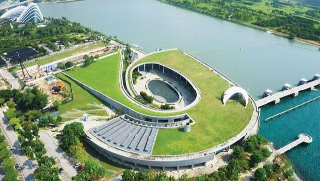 Aerial view of Singapore's largest reservoir where Geomotion installed inclinometers and piezometers
