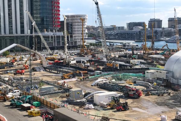 Crown Tower under construction in Sydney, Australia