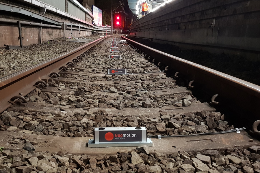 Railway monitoring at Central station in Sydney, Australia