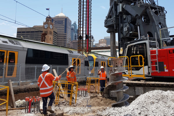 People working at Centra Station in Sydney